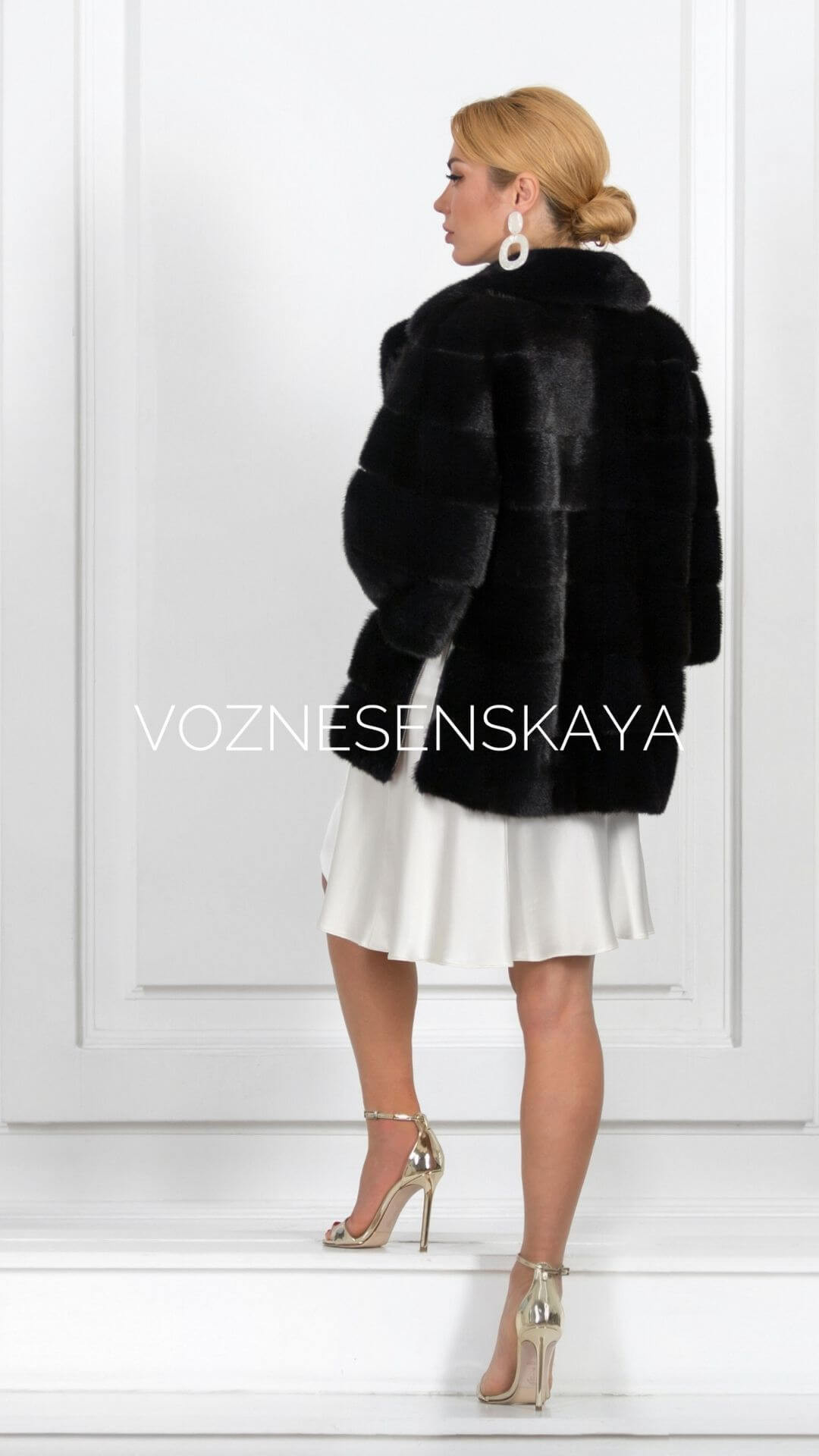 How to alter an old mink coat photo