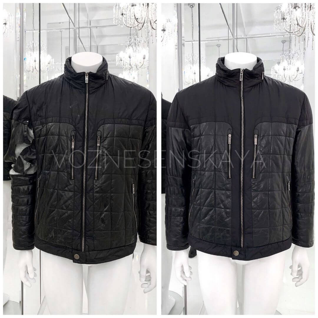 Elimination of a gust on a leather jacket